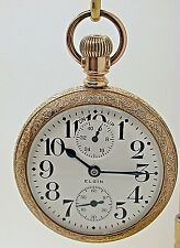 VINTAGE ELGIN SIZE 18 UP DOWN INDICATION GRADE 240 OPEN FACE MADE IN 1909  8C