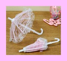 Mini Umbrella Favors - PINK - Set of 6 for Baby Shower Favors or Craft Projects
