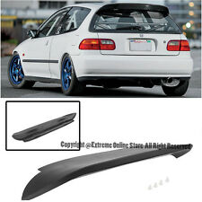 For 92-95 Honda Civic 3Dr SPOON Style ABS Plastic Rear Roof Wing Spoiler EG SI