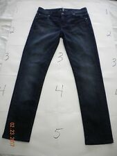 7 For All Mankind Jeans Roxanne Low Waist Slim Skinny Size 26 Inseam 28 Blue