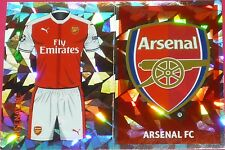 ARL1 ARL2 Arsenal kit & badge 2016/2017 Topps Champions League Stickers