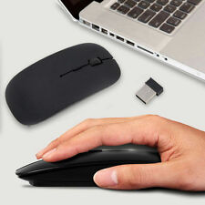 Slim 2.4 GHz Optical Wireless Mouse Mice w/ USB Receiver For Laptop PC Macbook A