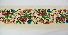 """Tulips Needlepoint canvas complete unfinished wall hanging bench insert 43"""" +"""