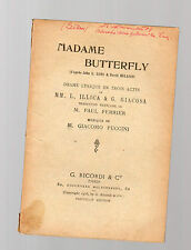 puccini - madame butterfly - libretto in francese -