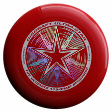 Discraft Ultra-Star Ultimate Frisbee 175 Gram Championship Sportdiscs-Dark Red