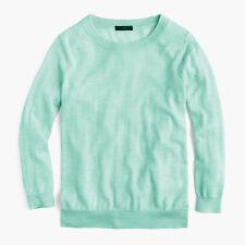 NWT  J. Crew Tippi merino wool crewneck sweater XS marled aquamarine blue $79.50