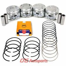 "JDM Honda ZC P29 Acura Integra 1.6L Engine .020"" Over Pistons+NPR Ring Set D16A1"