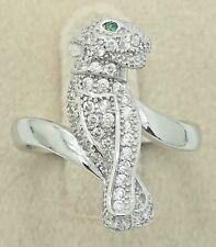 Women Ladies Panther Solid Real 925 Sterling Silver CZ Cocktail Ring Inspired