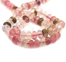 """5x8mm Natural Faceted Multicolor Tourmaline Gemstone Rondelle Loose Beads 15"""""""