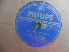Guy Mitchell with Ray Conniff - Crazy whit love / Singing the blues - 78 giri