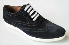 new MIKE KONOS navy suede Wingtip lace-up shoes 10 made in Italy