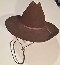 Vintage Bradford Western Brown Fur Felt Cowboy Hat SZ 6 7/8