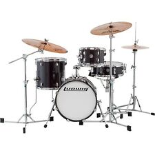 Ludwig Breakbeats by Questlove 4-Piece Shell Pack Black Sparkle Chrome Hrdwr LN
