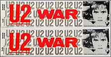 U2 WAR Lot Of 2 80's Bumper Stickers BonoThe Edge