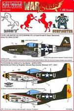 Kits World Decals 1/48 NORTH AMERICAN P-51 MUSTANG Bonnie B & Gunfighter