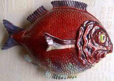 Decoración Vintage Plato con tapa de peces de mayólica