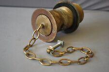 Brass SLOTTED DÉCHETS & Plug 1 1/4 pouces ANTIQUE PATINE Reclaimed rénové