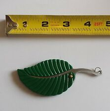 "4"" Green Leaf Stainless Steel Folding Pocket Keychain Knife Sharp Compact"