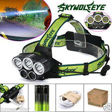 25000LM 5x XM-L T6 LED Scheinwerfer Headlight Wiederaufladbare+USB+18650 Akku