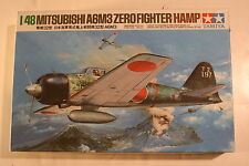 "Japan Mitsubishi A6M3 ""Hamp"", 1/48 Tamiya kit 61025, 1982, Airplane Model Kit"