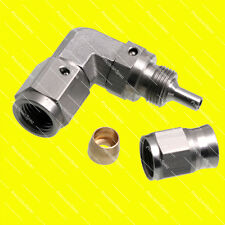 AN3 3AN JIC 90 Degree Stainless Steel PTFE Swivel Hose End Fitting 1Yr Warranty