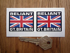 RELIANT Great Britain Union Jack Style Stickers 50mm Pair Car Robin Scimitar GTE