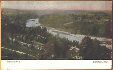 1907 River scene Springbank London Ontario postcard