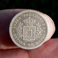 India portoghese Goa 1/8 ITT MONETA ARGENTO 1881