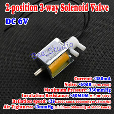 DC 6V 2-position 3-way Mini Micro Electric Solenoid Valve for Gas Air Pump Valve
