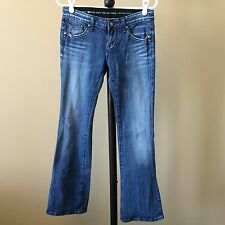 Re Rock for Express Size 2 R BOOT CUT Distressed Womens Stretch Denim Jeans