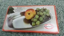 "207M Vtg NEW in Box Schale Tischfein Serving Tray 18/10 SS 11 1/2"" Germany"