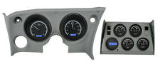 Dakota Digital 68 - 77 Chevy Corvette Analog Dash Gauges Black Blue VHX-68C-VET