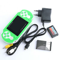 PXP Portable Video Game 16 bit Handheld Console 150 Retro Megadrive Sky Green