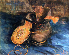 "VINCENT VAN GOGH, ""A Pair of Shoes"", MUSEUM QUALITY GICLEE 8.3X11.7 CANVAS PRINT"