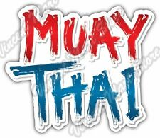 Muay Thai Combat Sport Thailand Martial Arts Car Bumper Vinyl Sticker Decal 5X4""