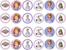 24X SOPHIA THE FIRST Edible Wafer Fairy Cupcake Bun Toppers Buy 2 Get 1 Free