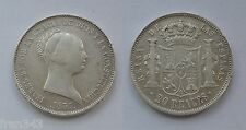 20 reales 1851 ISABEL II - MADRID MBC / SPAIN KM 593.2 VF