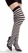 Thigh High Stripe stockings tights adult fashion women knee socks costume clown