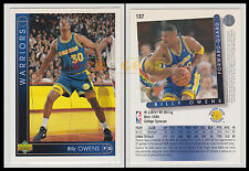 NBA UPPER DECK 1993/94 - Billy Owens # 137 - Warriors - Ita/Eng - MINT