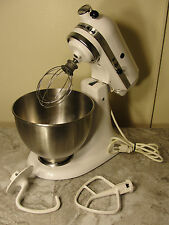 Kitchen Aid K45SSWH Classic Stand Mixer 10 Speed 250 Watts Tested Working