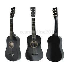 ¡Caliente! Principiantes Negro Tilo Guitarra Acústica Pua Cuerdas Oeste Guitar