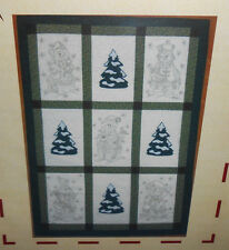 New Unseen Hands WE CAN BUILD A SNOWMAN Applique & Embroidered Quilt Pattern