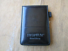 Caterpillar Black Leather Notepad Cover Global Mining
