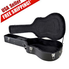 Acoustic Guitar Hardshell Carrying Case Fits Most Acoustic Guitars w/ Lock Latch
