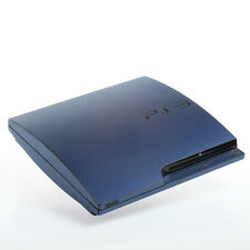 BLU spazzolato PS3 SLIM CON TEXTURE pelle-Full Body Wrap-Decalcomania Adesivo Cover