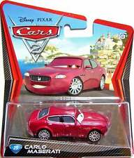 DISNEY CARS 2 CARLO MASERATI NEW IN PACKAGE 1:55 SCALE VHTF!!!