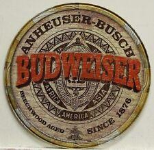 """BUDWEISER Barrel Top 12"""" Metal Sign bud vintage style logo beer bar lager   2165"""