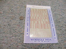 "Microscale  decals HO 87-202-5 Extended Roman alphabet SP 6"" 15"" red A93"