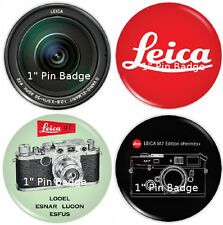 "LEICA IIIc & M Camera Artwork - 1"" Pin Badge Pack - NEW"