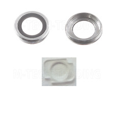 NEW GENUINE IPHONE 6 4.7 REAR SILVER CAMERA LENS COVER RING+FLASH DIFFUSER PART